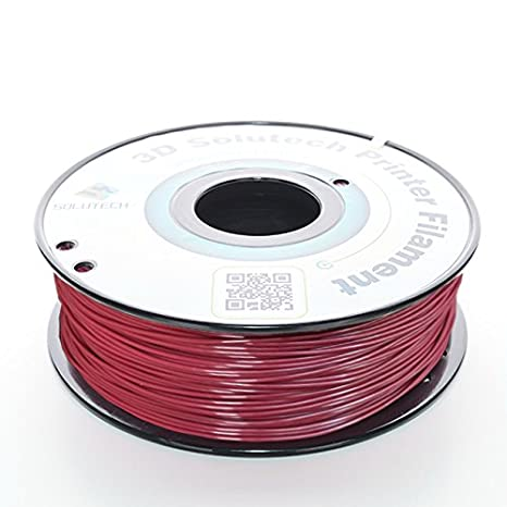 3D Solutech Merlot Red 3D Printer PLA Filament 1.75MM Filament 3DSPLA175MELT 2.2 LBS Dimensional Accuracy +//- 0.03 mm 1.0KG