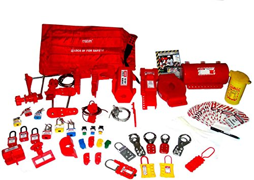 KRM Lockout Tagout Kit (Without Bag) by LOTO