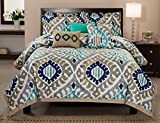 RT Desingers Collection Utopia Cotton Comforter Set, Queen, 6 Pieces