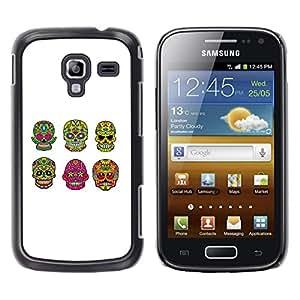 For Samsung Galaxy Ace 2 - Cool Cute Green Sugar Skull /Modelo de la piel protectora de la cubierta del caso/ - Super Marley Shop -