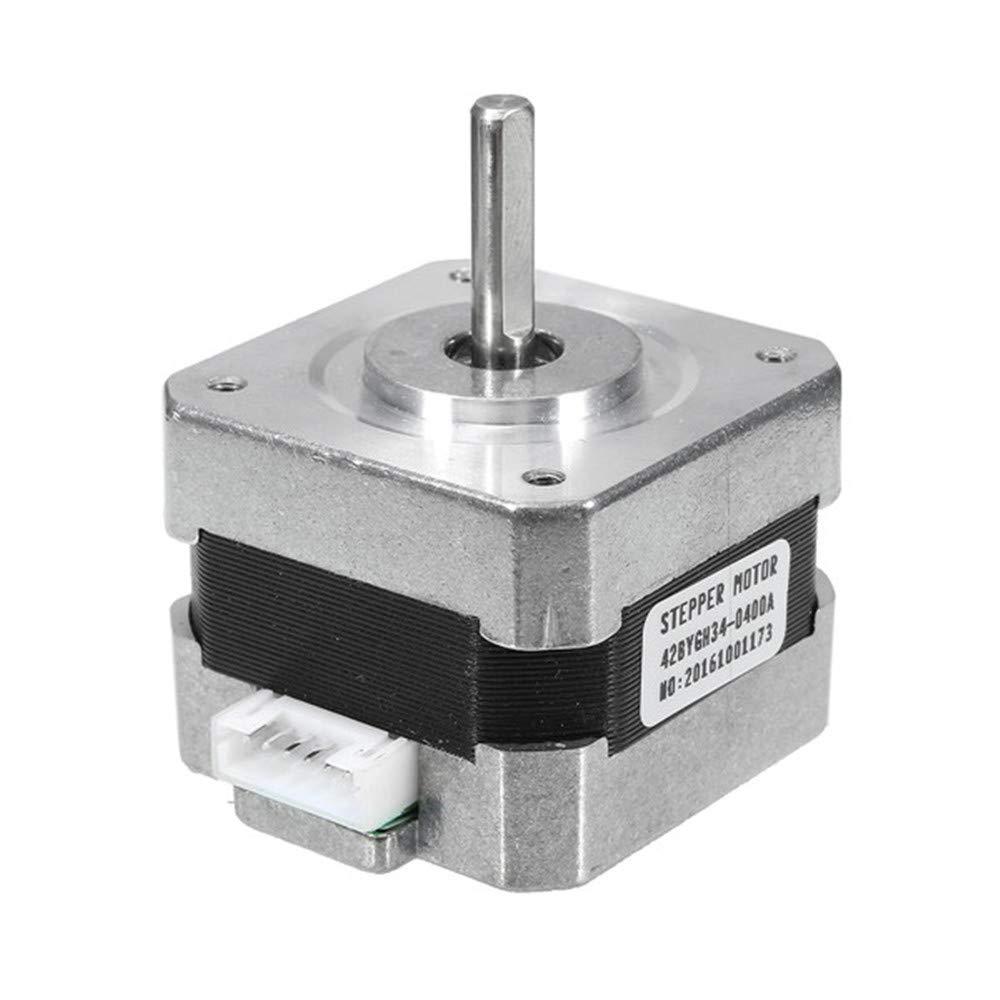 Asdomo NEMA 17 26N.cm 0.4A Schrittmotor 42mm Zweiphasen-Hybrid-Schrittmotor 3D-Drucker-Teile und Zubehör 3D-Drucker-Motoren