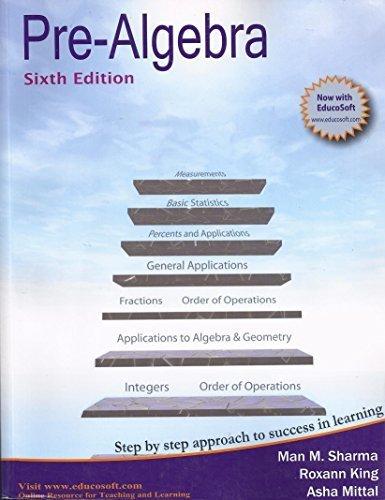 Pre-Algebra, Sixth Edition | Weshop Vietnam
