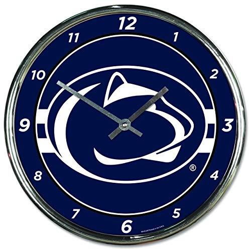 - WinCraft Penn State Nittany Lions NCAA Chrome Plated Clock - Team Color,