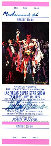 Muhammad Ali & LeRoy Neiman Authentic Autographed Signed Ticket #Z33806 JSA Certified Autographed Boxing Tickets