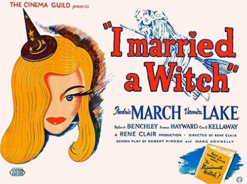 Amazon.com: I Married A Witch - 1942 - Movie Poster: Posters & Prints
