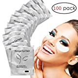 Adecco LLC Under Eye Gel Pads, 100 Pairs Set Eyelash Extension Pads, Lint Free DIY False Eyelash Lash Extension Makeup Eye Gel Patches