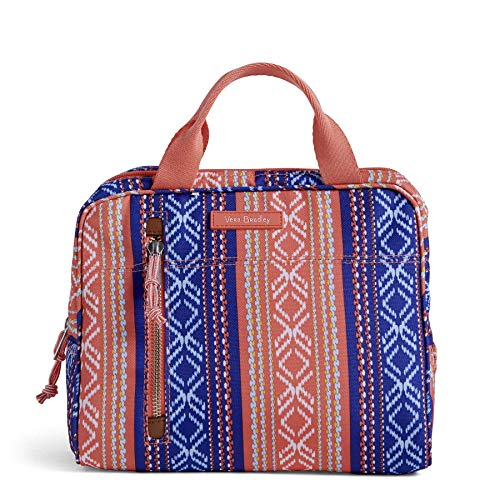 Vera Bradley Lighten Up Lunch Cooler, Polyester, Bright Serape Stripe, S
