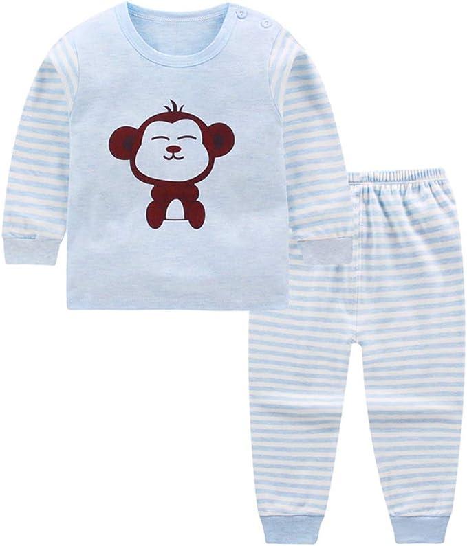 Meiju Conjunto de Manga Larga Pijama para niño, Patrón Caricatura ...