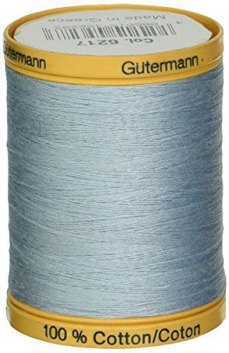 Gutermann 876 yd Natural Cotton Thread Solids, Powder Blue by Gutermann (Powders Cotton Gutermann)