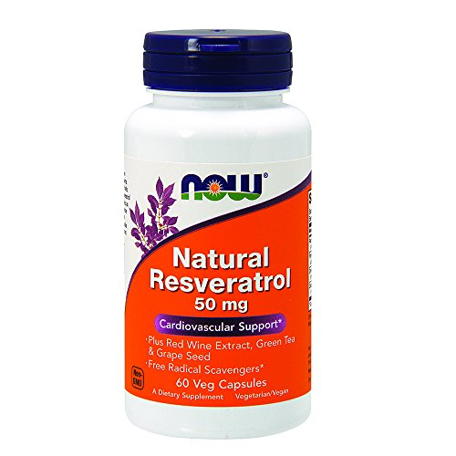 NOW Natural Resveratrol,60 Veg Capsules by NOW Foods