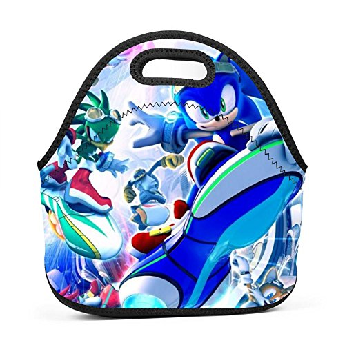 Son-ic Riders Zero Gravity Lunch Tote Bag Insulated Large Capacity Portable Picnic Lunch Box Thermal Food Container for Womens Boys Girls and Mens