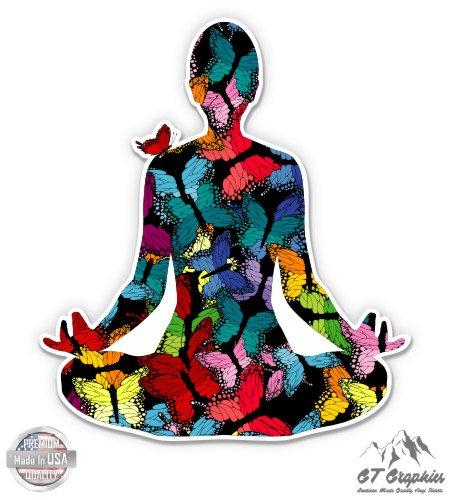 GT Graphics Yoga Meditation Butterflies - 3