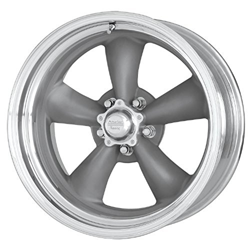 American Racing VN215 Classic Torq Thrust II 1 Pc Mag Gray Wheel with Center Polished Barrel (15x7