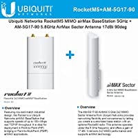 Ubiquiti RocketM5 Rocket M5 5.8GHz + AM-5G17-90 5.8GHz AirMax Sector 17dBi 90deg