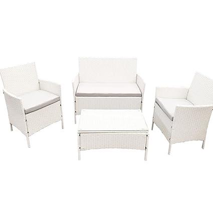 Bakaji Sorrento White Smart - Conjunto de mesa + dos ...