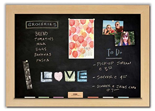 Magnetic Chalkboard with Maple Frame by The Cork Board Shop