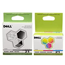 Dell  21 Printer Series  Ink Cartridge for Dell All-In-One printers P513w P713w V313 V313w V515w V715w,  2-Pack, (Black and Color)