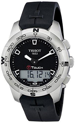 Tissot Men's T0474201705100 T-Touch Black Chronograph Dial Watch (Watches Tissot Altimeter)