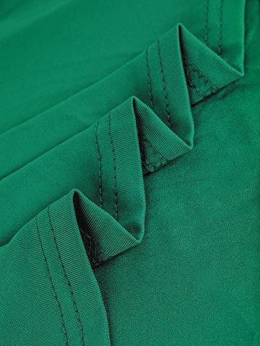 de Coloris HENCY Robe Diffrents Longues Cocktail Mnaches S Manches V Sans vert Vintage Col Ou Femme Soire Disponible rff6wxE