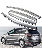 SPEEDLONG 4Pcs Car Window Visor Vent Shade Deflector Sun/Rain Guards Compatible with Ford Escape 2017 2018 2019 (Ford Escape 2017-2019)