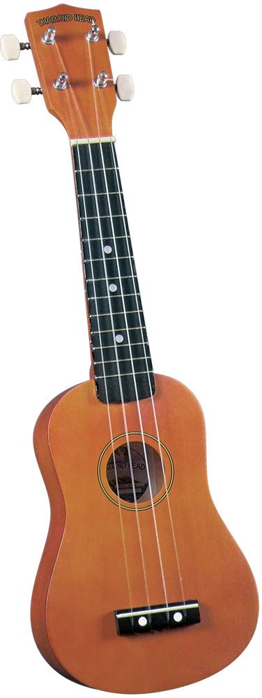 Diamond Head DU-101 Rainbow Soprano Ukulele - Brown