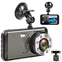 Effort Dual Dash Cam Front and Rear,H3 FHD 1080P Night...