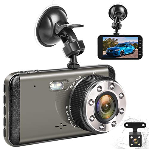 Effort Dual Dash Cam HD Front And Rear,H3 Night Vision Car Camera,4 IPS Screen 170