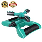 Cheap Anteko Lawn Sprinkler, Automatic 360° Rotating Garden Sprinkler for Large Area of Coverage, Water Sprinklers with Leak Free Design Durable 3 Arm Sprayer, Adjustable Nozzle, Easy Hose Connection