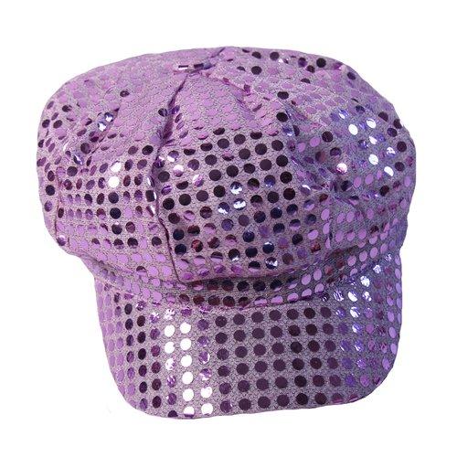 Dozen Making Believe Girls Sparkle Sequin Lavender Pop Star Diva Disco Newsboy Hats