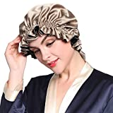 LILYSILK Double Luxury Silk Night Sleep Cap One Size