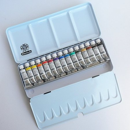 Schmincke Horadam Aquarell Printed Metal Set of 12 - 5ml Tubes + 3 Free! by SCHMINCKE