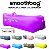 inflatable soda - Inflatable Lounger and Indoor Outdoor Sofa: Lazybag Air Lounge Chair with Built-In Headrest | Banana Sleeping Bag, Hammock, Pool Float, Portable Camp Seat, Lazy Hangout Couch Bed (Purple)