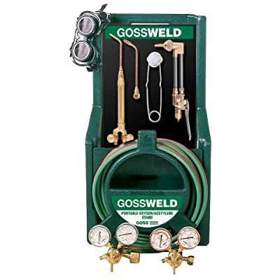 "Goss KA-525-M12P Welding/Brazing/Heating HVAC Kit with Stand for ""MC"" Acetylene Tanks"