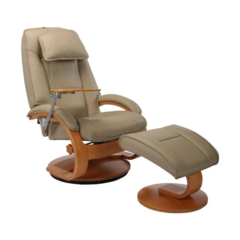 NEOWISER Sessel Entspannung Liegestuhl Flexible Leder mit Fußhocker