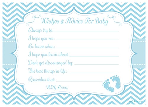 Amazon Com Blue Baby Feet Wishes And Advice For Baby Cards 50