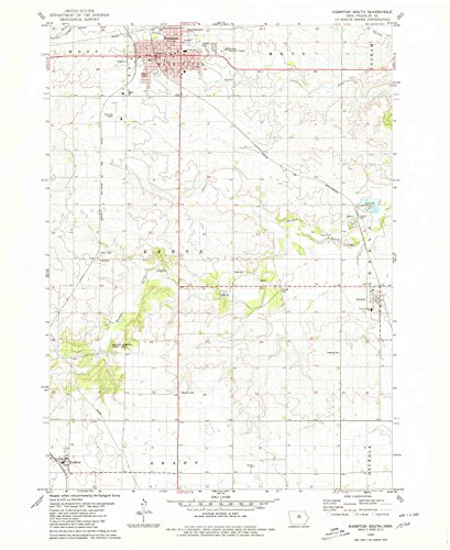 YellowMaps Hampton South IA topo map, 1:24000 Scale, 7.5 X 7.5 Minute, Historical, 1979, Updated 1980, 26.8 x 22 in - Paper