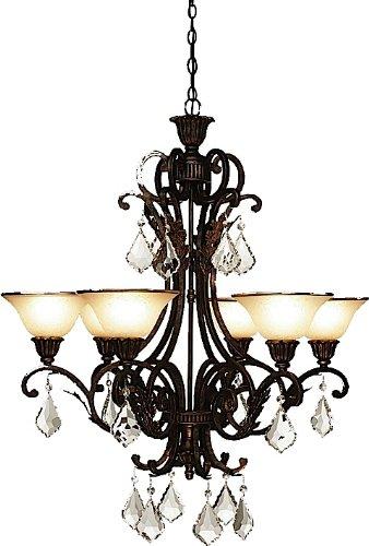 Artcraft Lighting Florence 6-Light Chandelier Rich Bronze