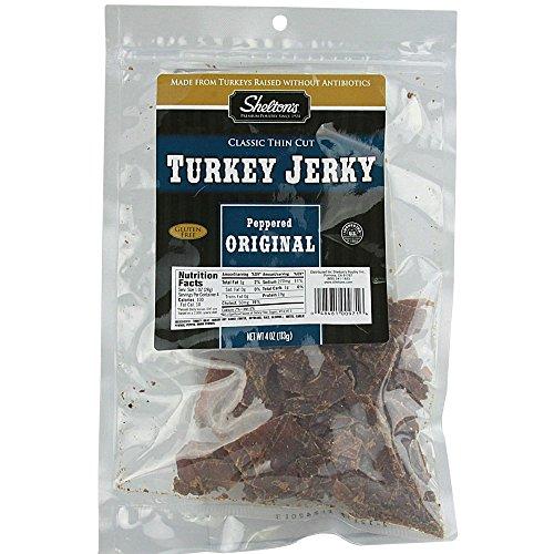 Shelton's Turkey Jerky Peppered Original -- 4 oz