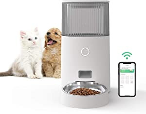 ZAMATE Automatic Pet Feeder, 2.5L Wi-Fi Enabled Smart Pet Feeder for Cats and Dogs with App Control, Auto Cat and Dog Food Dispenser with Portion Control and Programmable Timer