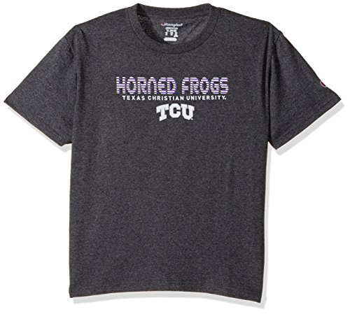 NCAA TCU Horned Frogs Youth Boys Jersey T-Shirt 2, Large, Charcoal