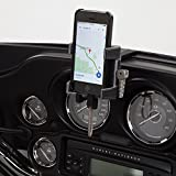 Ciro 50217 Smartphone/GPS Holder (Black Fairing Mount with Charger for 2014-2016 Flht/Flhx Touring Models)