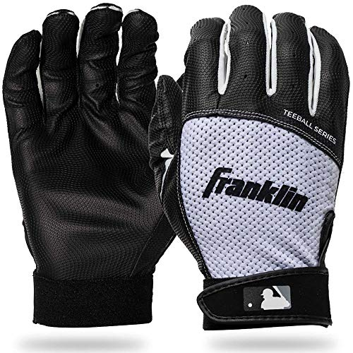 Franklin Sports Teeball Flex Series Batting Gloves - Black/White - Youth XX-Small