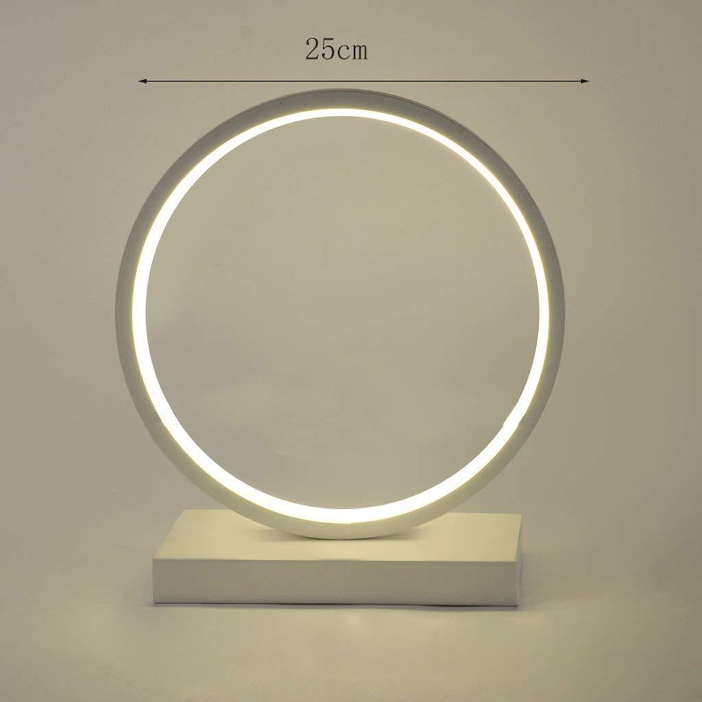 AAWYL Tischlampe - Nordic Modern LED Aluminiumrahmen Lampe, Runde Kreative Persönlichkeit Mode Schlafzimmer Nachttisch Dekorative Beleuchtung