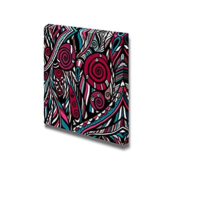 Colorful Abstract Floral Pattern Wall Decor