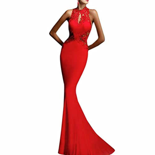Women Prom Evening Party Cocktail Backless Formal Long Fishtail Maxi Dress