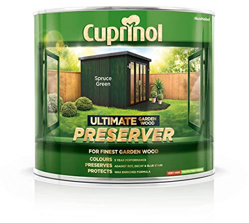 (Cuprinol Ultimate Garden Wood Preserver Spruce Green 1L )