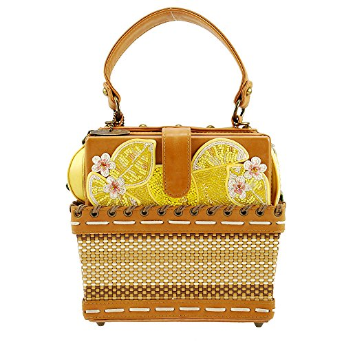 Fresh Embellished MARY Basket Bag Novelty Handle Lemon Top FRANCES Squeezed 6w5qF5TS