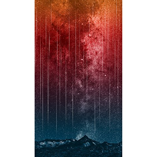 Hoffman Digital Out Of This World 24.5in Panel Falling Stars Canyon Fabric