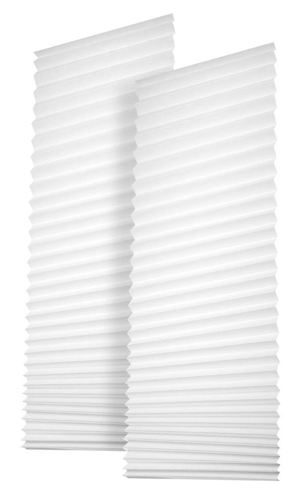 Easy-fensterfix ®-store enrouleur de store vénitien plissé en papier-brise-vue pour fenêtres sans perçage blanc-à 121 cm Redi Shade Deutschland GmbH