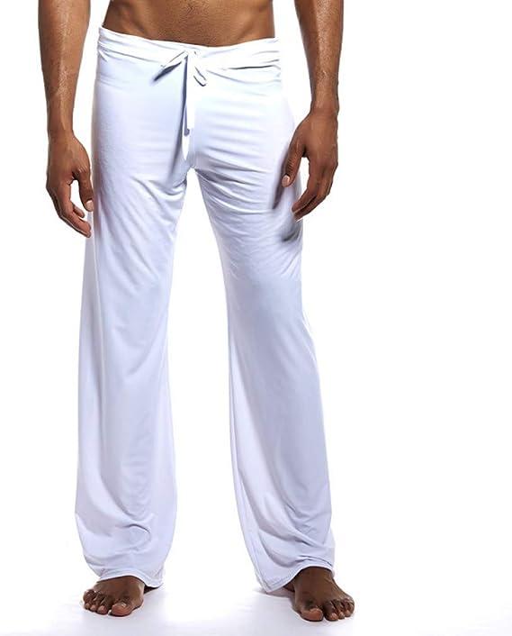 yoga yoga da notte Pantaloni Lounge da uomo Ice Silk pigiama per sport